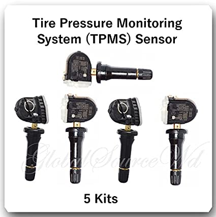 F2GT-1A180AB TPMS Tire Pressure Monitoring Sensor with Additional TPMS Service KitFit:Ford Lincoln Mazda /& Mercury Schrader 4 Kits