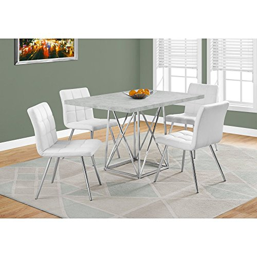Exceptionnel MONR I1043 Monarch Dining Table In Gray Cement And Chrome