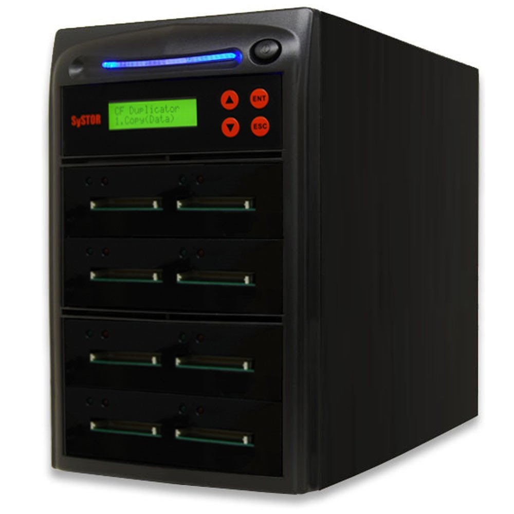 SySTOR 1 to 7 Multiple Compact Flash CF Memory Card Duplicator / Drive Copier (CFD-7)