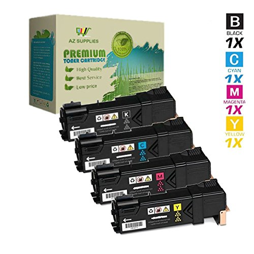 AZ Supplies © Premium OEM Quality Compatible Xerox Phaser 6500, Black 106R01597, Cyan 106R01594, Magenta 106R01595, Yellow 106R01596 Toner Set for Xerox Phaser 6500, Xerox WorkCentre 6505 Series Printers. Black 3,000; Colors 2,500 pages yield.