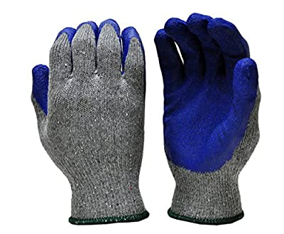 G & F 3100 Knit Glove with Textured Latex Coating Gripping Gloves, 12-Pairs, Large, Sold By Dozen