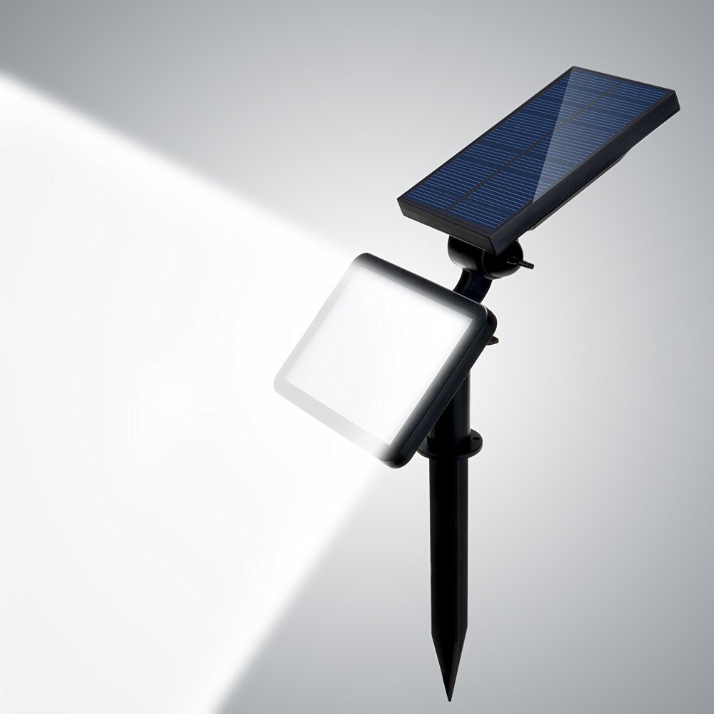 Solar Spotlight, AGPtek Outdoor Wall Lamp/Waterproof Security Night Light, 48 Patch LED, for walls/patios/decks/pathways/stairways/driveways/gardens