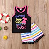 Kids Baby Girls Organic Cotton Floral Letter