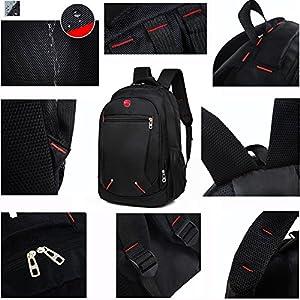 hopesport Multi-Compartment Basics Backpack for Laptops, Black