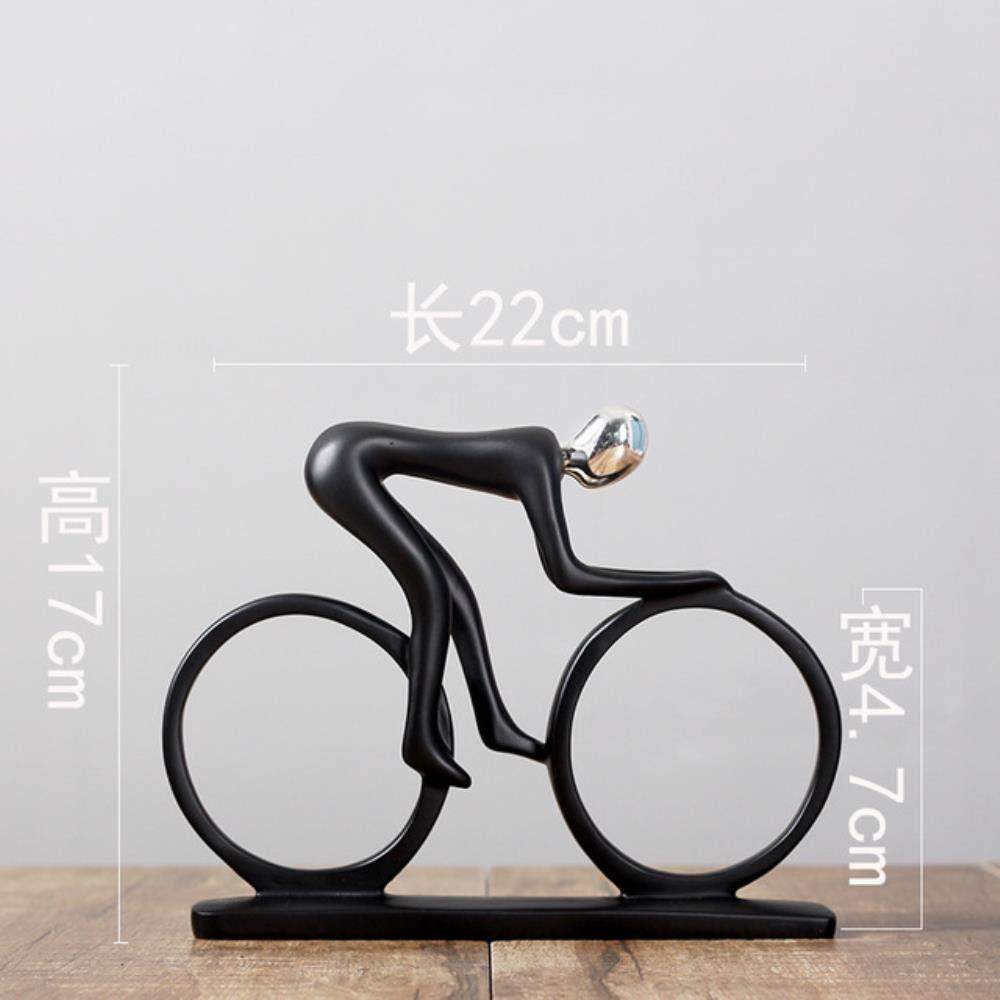 Calciatore Giocatore di Baseball qingtianlove semplici Sportivi Uomo Bicicletta Golfista Musica Statua Modello Figurine Nere Decorazione Kung Fu Regalo Moderno Elegante Fantasia
