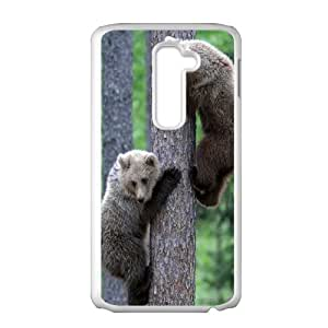 Durable Material Phone Case With Bear Image On The Back For LG G2