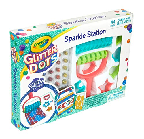 Crayola Glitter Dots Sparkle Station Craft Kit Gift for Kids Age 6