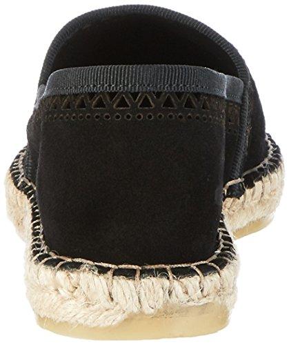 Donna Pattern Black Suede Espadrillas PIECES Espadrillos Nero Basse Pskatie Black ZTw7qC0