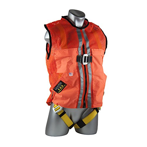 Guardian Fall Protection 02120 Orange Mesh Construction Tux Harness, Large by Guardian Fall Protection (Image #1)