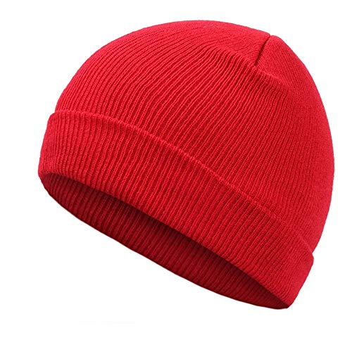 ec26fb4f2b5 MJ-Young Solid Knit Beanies Hat Winter Warm Man Woman Multi Color Skullies  Red