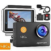 【進化版】APEMAN A79 アクションカメラ 4K高画質 2000万画素 ...