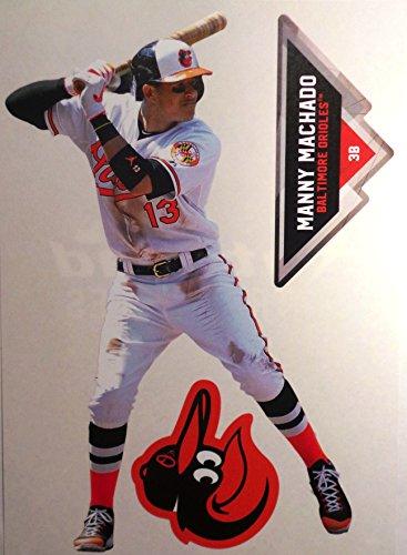 Manny Machado Mini FATHEAD Baltimore Orioles Logo Official MLB Vinyl Wall Graphics 7