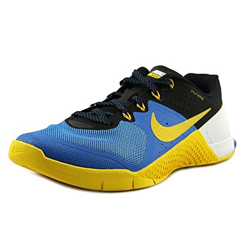 Nike Mens Metcon 2 Training Shoes Track Photo Blue/University Gold/White 819899-400 Size 7.5 by NIKE