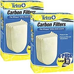 Tetra 26332 Whisper EX Carbon Filter Cartridges, Large, 8-Pack