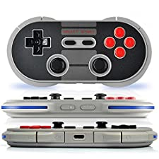 BPSMedia® Wireless Bluetooth Classic Wireless Pro Game Controller remote for iOS and Android Gamepad - PC - Windows - Mac - Linux - Square - Perfect to Play Classic Retro Games (RTSSNS30)