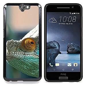 """Qstar Arte & diseño plástico duro Fundas Cover Cubre Hard Case Cover para HTC One A9 (Camaleón Misteriosa"""")"""