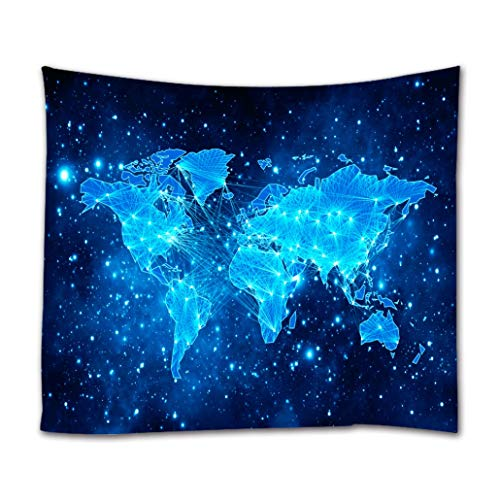 Starry World Map Tapestry, Goodbath Universe Nebel Star in Outer Space...