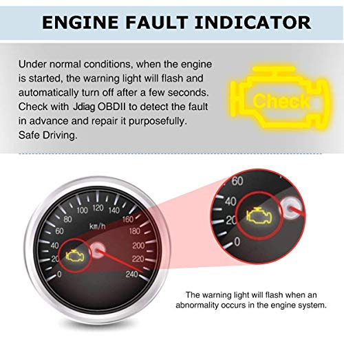 JDiag OBD2 Scanner Auto Check Car Engine Fault Code Reader Enhanced Universal OBD II Classic Diagnostic Scan Tool Suitable for EOBD/CAN Vehicles by JDIAG (Image #1)