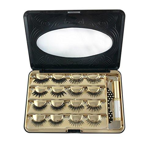 d57cf979296 Luxuelash False Eyelash Makeup Cosmetic Storage Organizer Box Travel Lash  Case Container