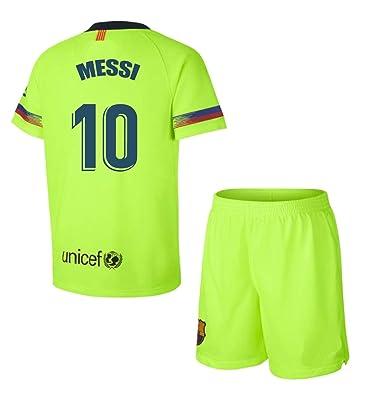 dae7720e4634e Kit Segunda Equipación Infantil Leo Messi del FC Barcelona Producto Oficial  Licenciado Temporada 2018-19