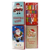 Christmas Money and Voucher Wallets with Envelopes - Pack of 4 Different - Cute Designs