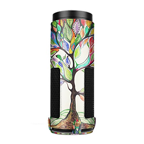Price comparison product image Fintie Protective Case for Amazon Echo - Premium Vegan Leather Cover Sleeve Skins (Upgraded Edition), Love Tree (SAAA019AD-US)
