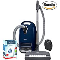 Miele Complete C3 Marin Canister Vacuum Cleaner - Corded, ReVIVE Rapid Dual USB 6 Outlet Wall AC Adapter, and Miele 10123210 AirClean 3D Efficiency Dust Bag, Type GN, 4 Bags & 2 Filters (Bundle)