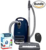 Miele Complete C3 Marin Canister Vacuum Cleaner – Corded, ReVIVE Rapid Dual USB 6 Outlet Wall AC Adapter, and Miele 10123210 AirClean 3D Efficiency Dust Bag, Type GN, 4 Bags & 2 Filters (Bundle) For Sale