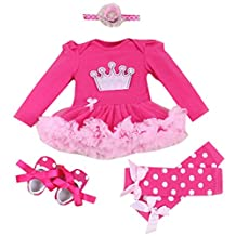 New Year Christmas Dress Newbron Baby Girls Romper Long Sleeve Romper Outfits, S