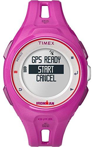 Timex Unisex TW5K87400 Ironman Run x20 GPS Full-Size Magenta Resin Strap (Timex Gps)