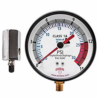 winters pgtk315cm low pressure test gauge with economy. Black Bedroom Furniture Sets. Home Design Ideas