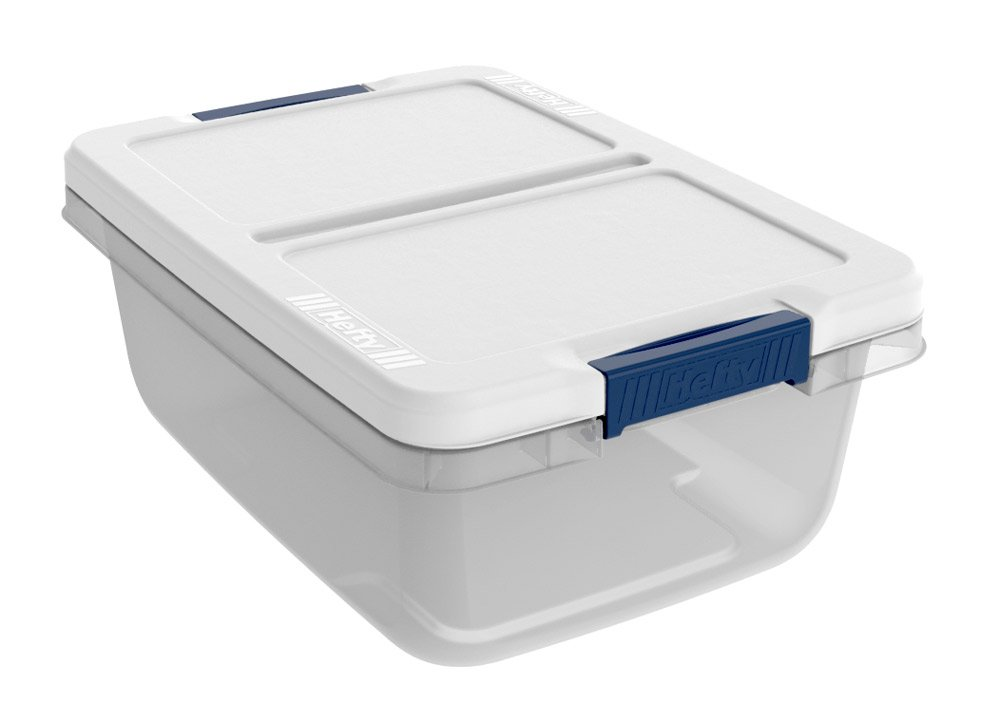 Hefty Storage Container (Set of 8), 15 quart, Clear