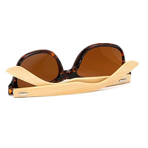Amazon.com: Shiratori - Gafas de sol clásicas de madera de ...