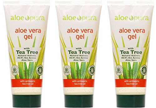 (3 PACK) - Aloe Pura - Aloe Vera Gel + Tea Tree | 200ml | 3 PACK BUNDLE