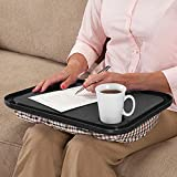 Chartsea Lap Desk For Laptop Chair Student Studying Homework Writing Portable Dinner Tray (Black)