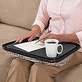 Chartsea Lap Desk For Laptop Chair Student Studying Homework Writing Portable Dinner Tray (Black)