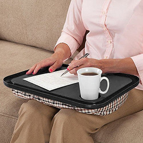 Chartsea Lap Desk For Laptop Chair Student Studying Homework Writing Portable Dinner Tray (Black) by Chartsea