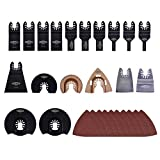 Dobetter OTSB28 28-pieces Oscillating Multitool Accessories Saw Blades Quick Release Kit (28-pieces)
