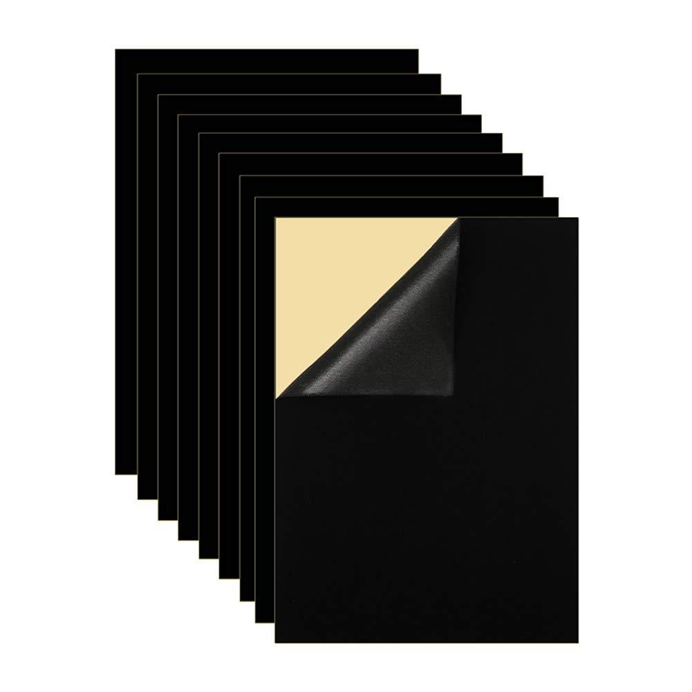 Mesheshe 10PCS Self Adhesive Velvet Fabric Flocking Liner, Felt Fabric Adhesive Sheets for Art & Crafts, Jewelry Box Liner, Soft Velvet Liner for Drawer, A4 Size (8.3