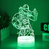Raven Fortress Battle Royale LED Lamp with Crack