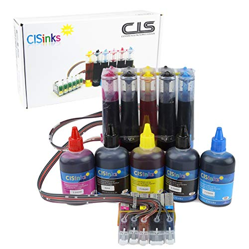 Continuous Ink Supply System with Ink Bottle Set - 5 Color for Canon PGI-270 CLI-271 PIXMA MG5720 MG5721 MG5722 MG6820 MG6821 MG6822 CISS - Ink System Continuous Flow