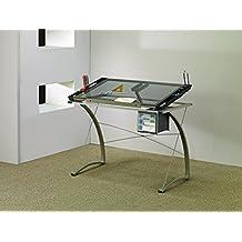 Coaster Desks Artist Drafting Table Desk, Chrome