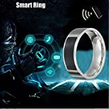 YIGEYI Cooool NFC Multifunctional Waterproof Intelligent Ring Smart Wear Finger Digital Magic The Perfect one for You (Color : Black, Size : 18)