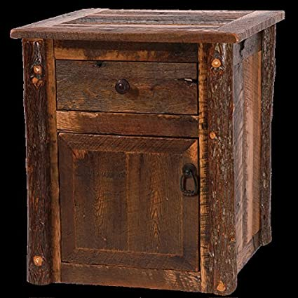 Barnwood Enclosed End Table Real High Quality Wood Western Lodge Rustic  Cabin