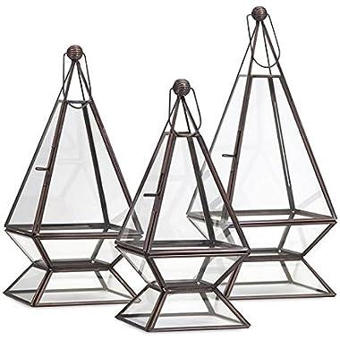 Warman Terrariums Set Of 3, SET OF 3, BRONZE