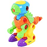 Dinosaur Take Apart Toy for Kids by Dimple - Educational Build Your Own Toy with Lights and Sounds, 2 Screwdrivers & Batteries for Boys & Girls, Great Christmas Gift for Children