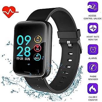 Foccoe Smartwatch Pulsera Inteligente,Pulsera Inteligentes Bluetooth Inteligente de Monitorización de la Salud,Contador de calorías, cronómetro, Pantalla OLED, Sistema de Seguimiento de la Actividad