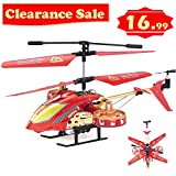 GPTOYS Remote Control Helicopter 4 Channel Indoor RC Toys with LED Light G620