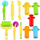 Kare & Kind Smart Dough Tools set - 5 sets of Extruders tools plus 6pcs of basic dough tools - (Kare and kind Retail Packaging) - Assorted color (Extruder tools + dough tools)