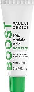 Paula's Choice BOOST 10% Azelaic Acid Booster Cream Gel, Licorice Extract & Salicylic Acid, Oil-Free Skin Brightening Serum, 0.17 Ounce - Travel Size